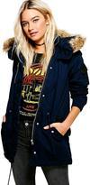 Boohoo Alicia Leather Look Trim Parka
