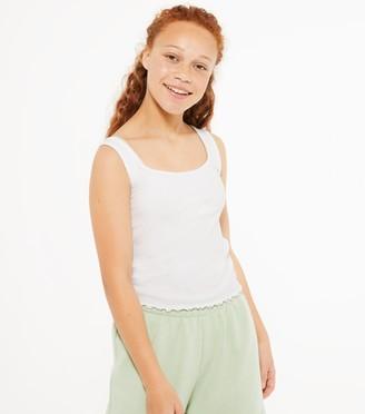 New Look Girls Ribbed Lattice Trim Cami