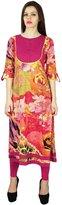 Phagun Indian Designer Floral Print Kurta Women Ethnic Kurti Casual Cotton Top