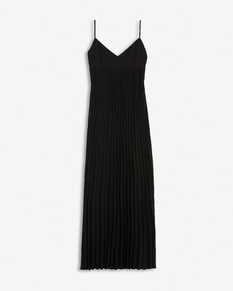 Express Pleated V-Neck Maxi Dress