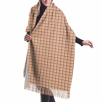 Asekngvo Hh Little Plaid Red On Cream Shawl Wrap Winter Warm Scarf Cape Large Soft Cozy Cashmere Scarf Wrap Womans Warm Shawl Stole