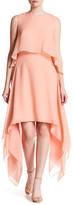 BCBGMAXAZRIA Marilee Popover Woven Silk Dress