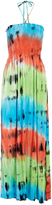 Club Z Lime & Coral Tie-Dye Halter Cover-Up
