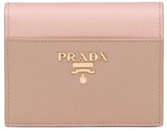 Prada Small Logo-Plaque Wallet