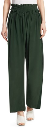 Sea Solange Smocked-Waist Silk Pants