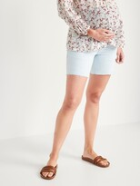 Thumbnail for your product : Old Navy Maternity Full Panel Cut-Off Jean Shorts -- 7-inch inseam