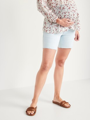 Old Navy Maternity Full Panel Cut-Off Jean Shorts -- 7-inch inseam