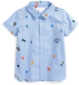 Burberry Toddler Boy's Clarkey Embroidered Woven Shirt