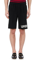 Gucci Men's Appliquéd Wool Track Shorts