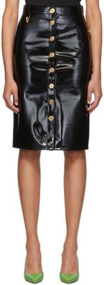 Versace Black Vinyl Skirt