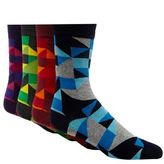 Red Herring Pack Of Four Multi-coloured Triangle Cotton Blend Socks