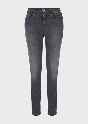 Emporio Armani J20 Skinny Jeans In Vintage-Look Stretch Denim