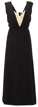 colville Layered-bodice Dress - Black White
