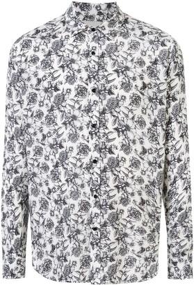 Laneus Floral Print Shirt