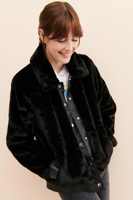Just Female Headturner Faux-Fur Jacket