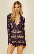 Nightcap Clothing plunging v sierra romper