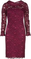 Gina Bacconi Dainty corded rose lace dress