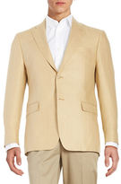 Lauren Silver Slim Fit Herringbone Jacket