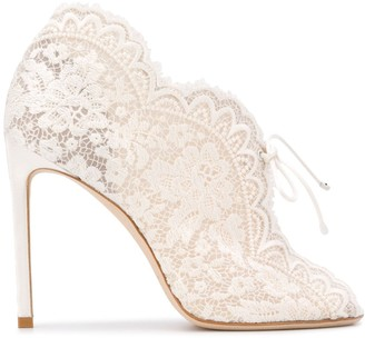 Jimmy Choo Lace High-Heel Sandals