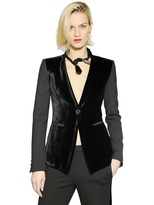 Emporio Armani Velvet And Stretch Double Jacket