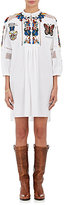 Valentino Women's Embroidered Cotton Shift Dress-WHITE