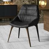 Modloft Leather Upholstered Side Chair Black Upholstery Color: Aged Onyx