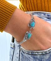Sevil 925 Women's Bracelets silver - Howlite & Sterling Silver Filigree Turtle Cuff