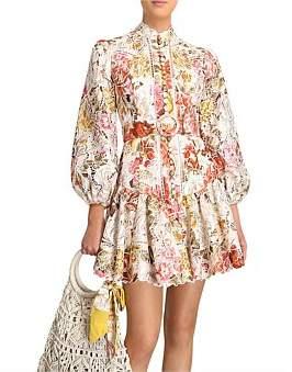 Zimmermann Bonita Embroidery Short Dress