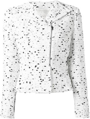 Giambattista Valli Zipped Tweed Jacket