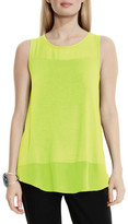 Vince Camuto Sleeveless Mixed Media Tank