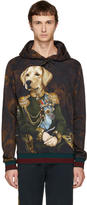 Dolce & Gabbana Black Royal Labrador Hoodie