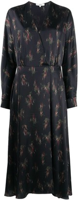 Vince Abstract Floral Print Dress