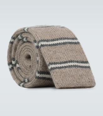 Brunello Cucinelli Striped cashmere tie