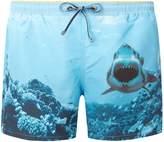 HUGO BOSS Men's Swordfish Shark Graphic Swimshorts