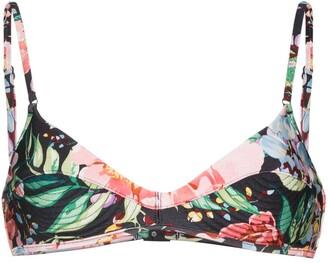 Zimmermann Bellitude floral-print bikini top