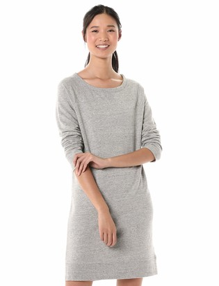 Goodthreads Amazon Brand Women's Modal Fleece Popover Sweatshirt Dress