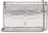 Burberry Jessie Metallic Embossed Croc Bag in Silver | FWRD