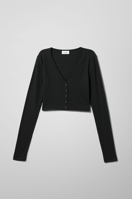 Weekday Teegan Cardigan - Black