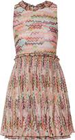 Missoni Pleated printed silk-georgette mini dress
