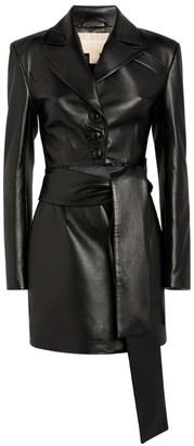 MATÉRIEL Faux Leather Cut-Out Dress
