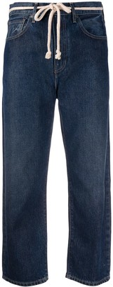 Levi's Made & Crafted Barrel-fit cropped jeans