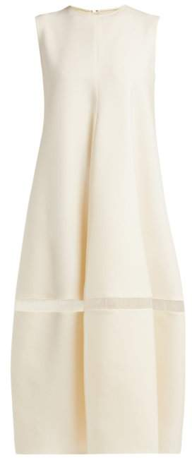 Maison Rabih Kayrouz Sleeveless Wool Blend Crepe Midi Dress - Womens - Ivory
