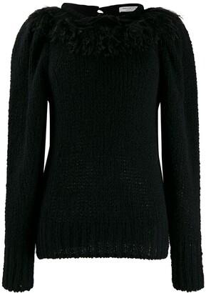 Philosophy di Lorenzo Serafini fringed knit sweater