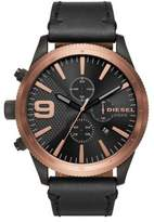 Diesel Advanced Rasp Chrono Leather-Strap Watch