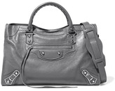 Balenciaga Metallic Edge City Textured-leather Shoulder Bag - Gray