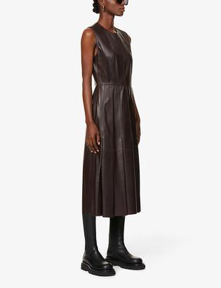 Joseph Demry nappa leather midi dress