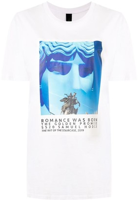 Romance Was Born logo print T-shirt