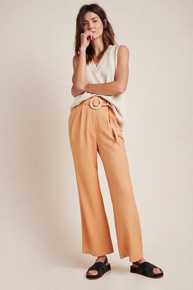 WAYF Ellen Belted Wide-Leg Trousers By in Orange Size XS