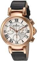 Edox Women's 10220 37RC AR LaPassion Analog Display Swiss Quartz Black Watch