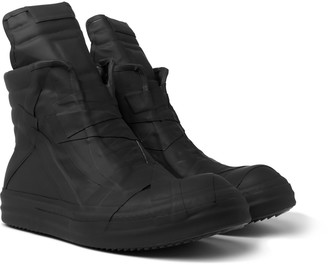 Rick Owens Geobasket Rubber High-Top Sneakers